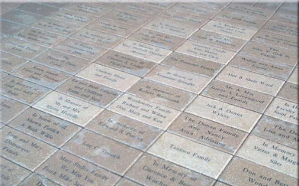 Engraved Brick Pavers